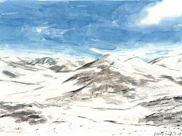 用插画,定格西藏的旅行时光
