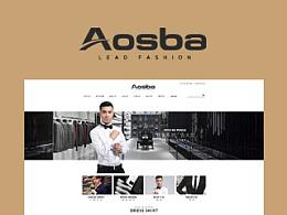 Aosba男装店铺视觉形象