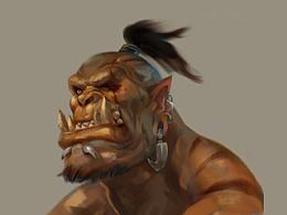 Kilrogg Deadeye头像绘画过程分享-所有兽人通用-魔兽世界