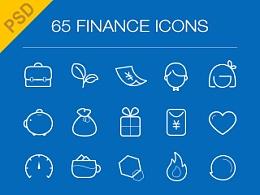 65枚 Finance icon绘制-PSD