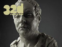 32d杂志更新到12.5!本期3d教程:教你如何创作一个古典风格的雕塑!