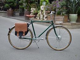 TSUNAMI复古自行车改装锂电电动车