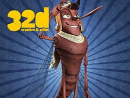 32d杂志更新12.4:绘制卡通动物的技巧——蚊子