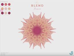 AI混合模式花朵教程Blend flower IIIustrator Tutoria