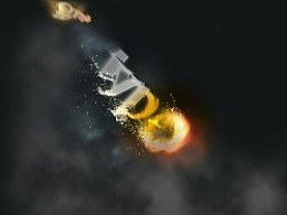 文本创建一个壮观的火焰流星效应