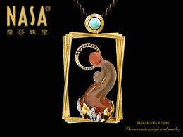 奈莎NASA珠宝原创设计引领东方文化艺术珠宝新格度作品《书山有路》