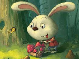 森林里的小兔子步骤