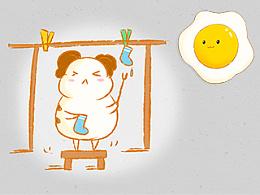 豚鼠与煎蛋