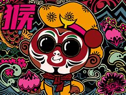 灵猴献瑞,福寿双至。#Wooha!!贺岁年货#