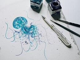皮忠招牌水母怎麼畫