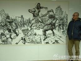 <漫画速写大师金正基Kim Junggi的现场创作照片>,分享给大家