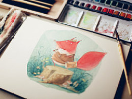 小新对儿童插画手绘水彩工具的一些心得体会