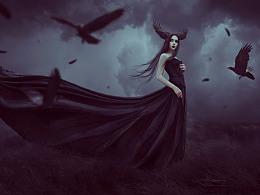 如何制作一个哥特式乌鸦女巫的照片
