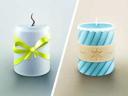 画一个简单的蜡烛