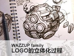 WAZZUP family LOGO的立体化过程