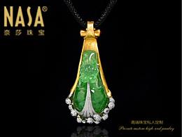 奈莎NASA珠宝原创设计引领东方文化艺术珠宝新格度作品《祥龙戏水》