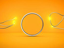 绳索LOGO演绎充电能量小动画