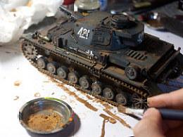 德国4号D型战车制作过程