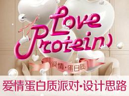 2014 白色情人节派对海报 设计思路