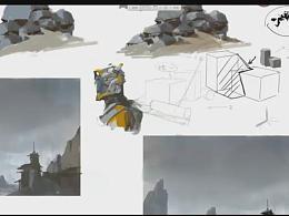 艺数绘网络公开课第二期  洛克猴(杜震)视频教程《暗面的控制与运用》