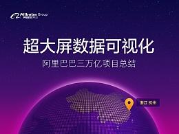 超大屏数据可视化设计:阿里巴巴三万亿大屏项目