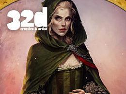 32d杂志更新12.2:绘制瘦长女子