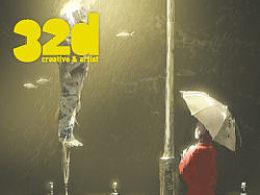 32d杂志更新到13.3!本期2d教程:在雨中