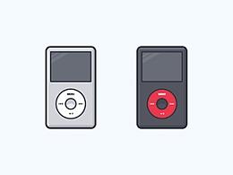 画一个扁平化 iPod 图标