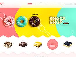 甜品蛋糕网页设计练习稿