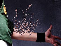 墨点抽离技法表现教程