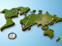 PS轻松绘制3D地图
