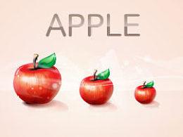 绘制靓丽红苹果