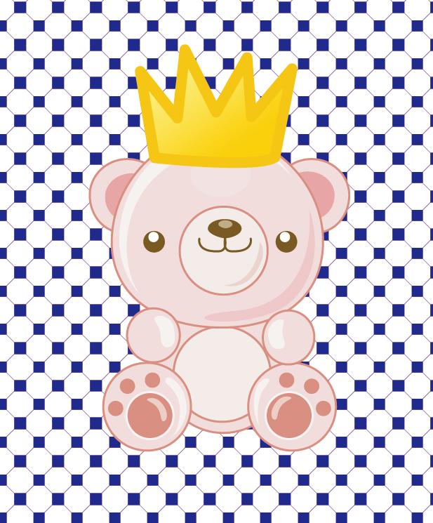 皇冠小熊矢量素材-卡通-矢量图片