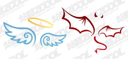 标签:矢量天使魔鬼卡通可爱翅膀矢量素材