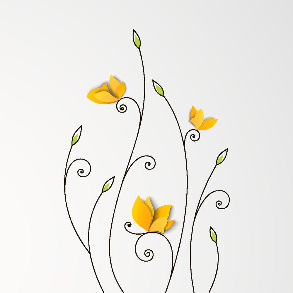黄色手绘墙绘