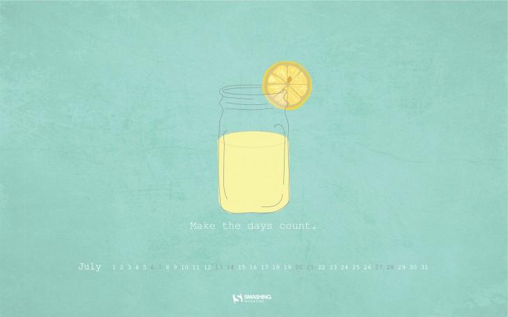 简约可爱壁纸小清新柠檬