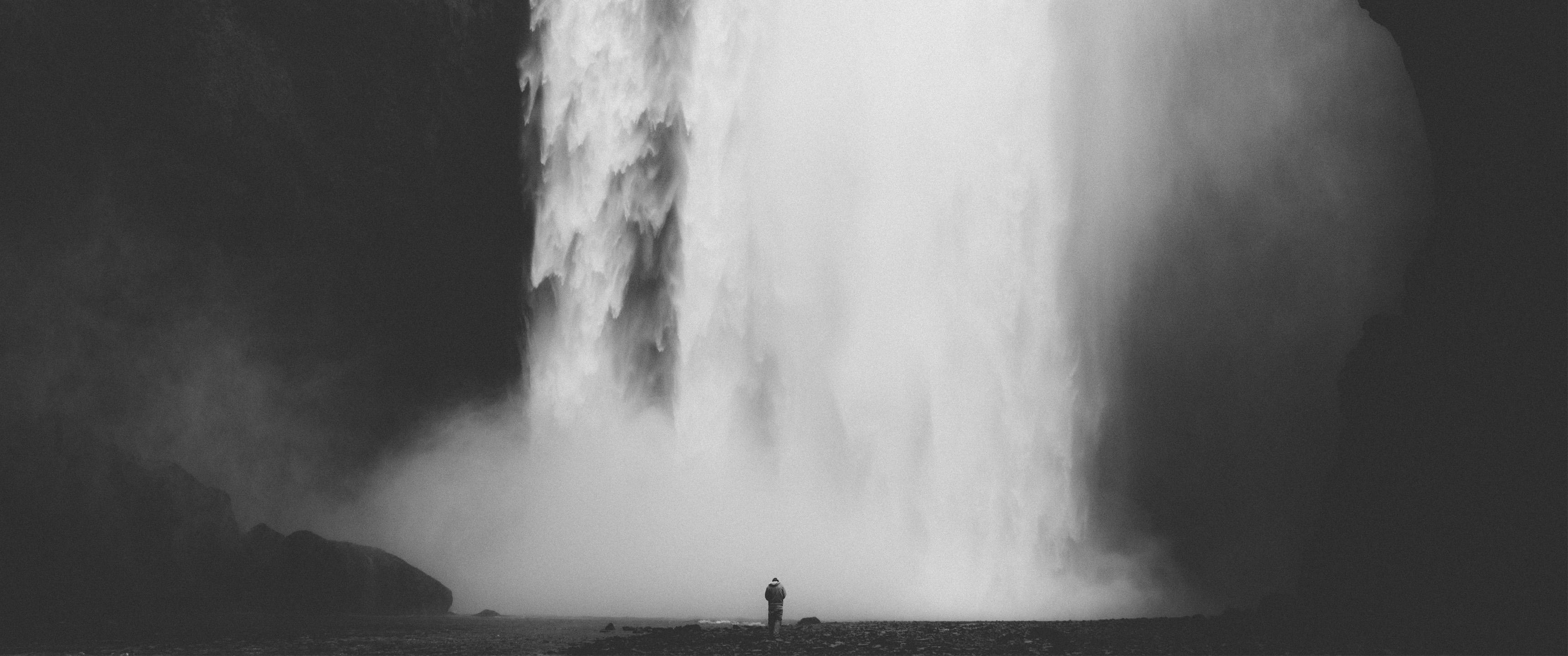 壁纸 风景 旅游 瀑布 山水 桌面 3440_1440