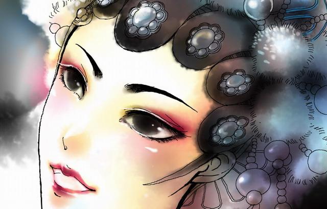 京剧人物手绘素材