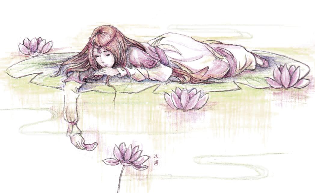 水溶性彩铅漫画手绘
