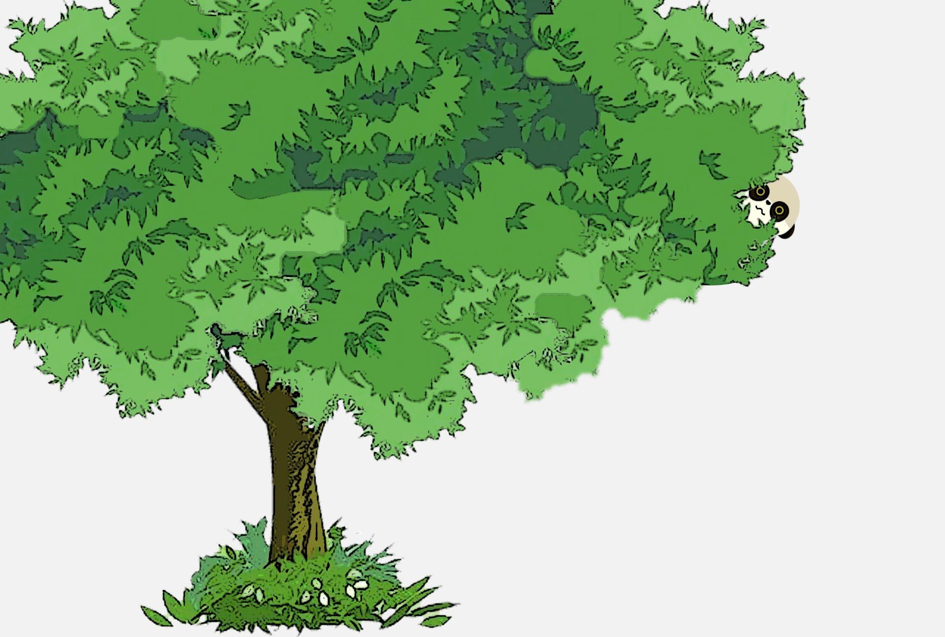 树叶粘贴画之猫