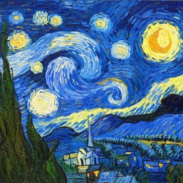 梵高的 星空 画的是哪里 有图片能发一下吗吗