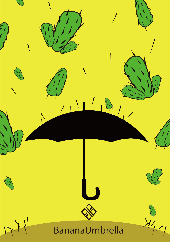 为这个品牌设计的两张海报充分体现了雨伞的质量密实,运用卡通的表现图片