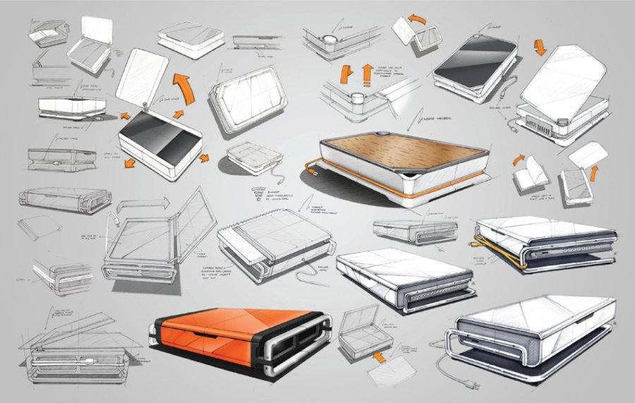 askin工作中的一些产品设计手绘稿