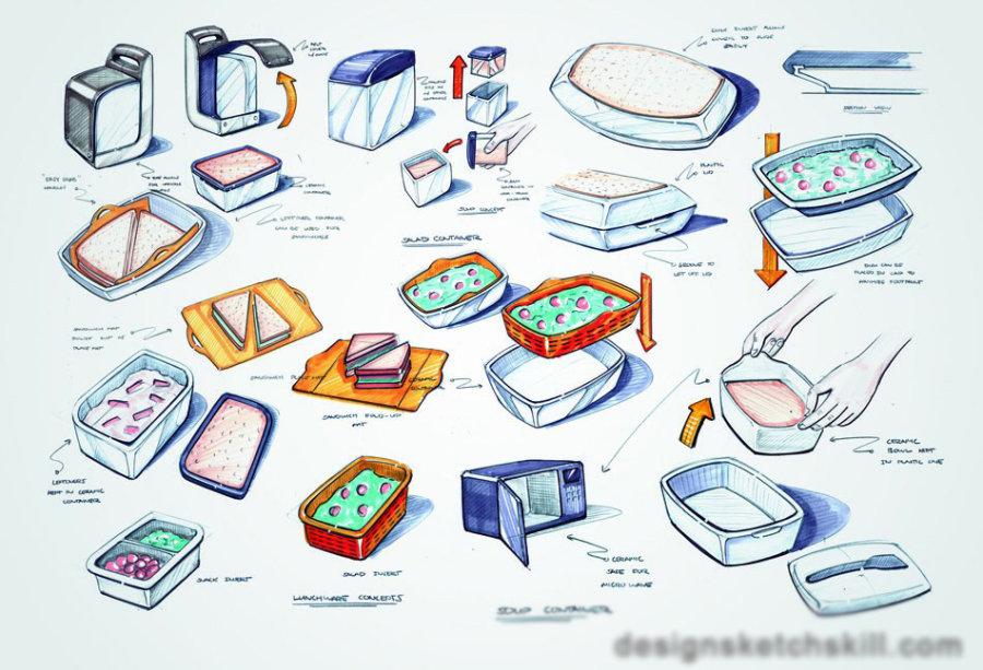 分享产品设计师erik askin设计手绘作品