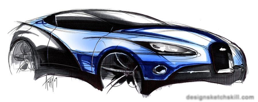 汽车设计手绘效果图