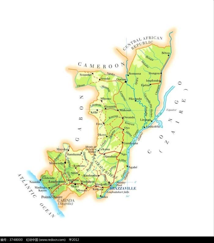 小刚果地理图