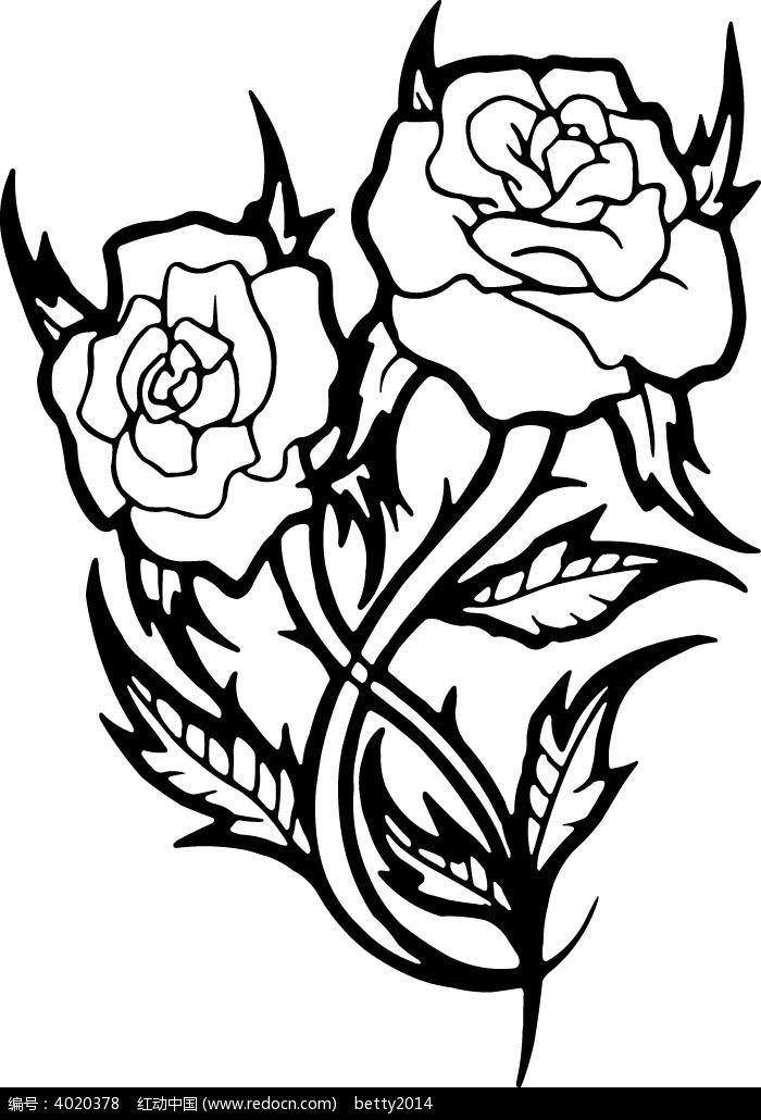 手绘花纹图案 - 搜素材