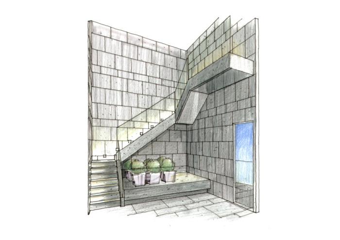 室内楼梯手绘图片素材