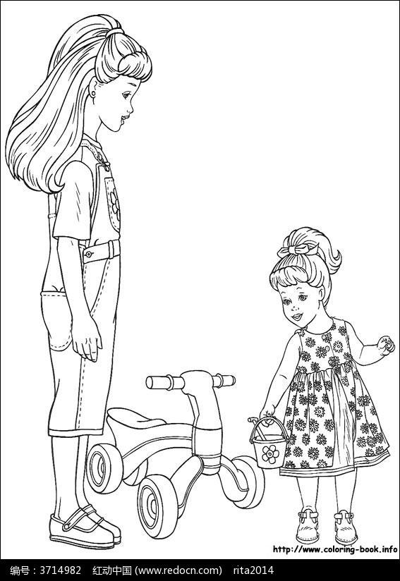 姐姐的简笔画_简笔画 手绘 线稿 567_824 竖版 竖屏