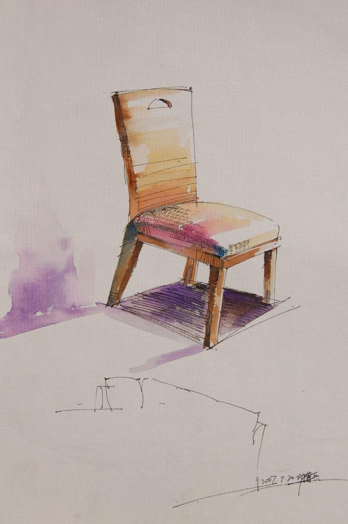 椅子手绘图片素材